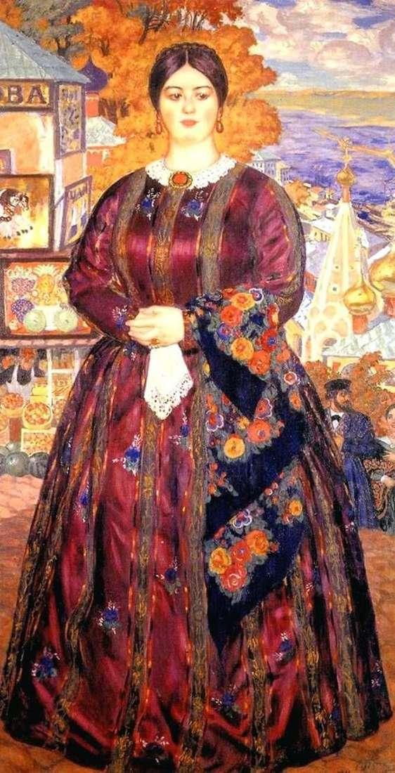 Tradeswoman by Boris Kustodiev