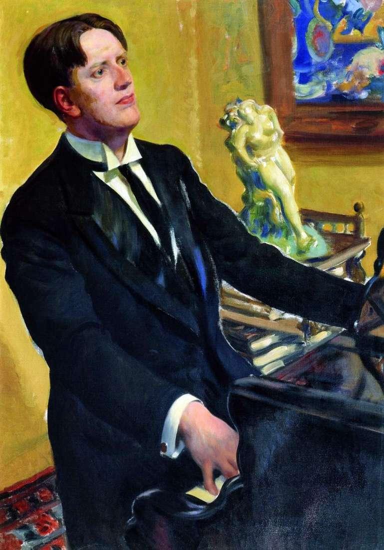 Portrait of the composer D. V. Morozov by Boris Kustodiev