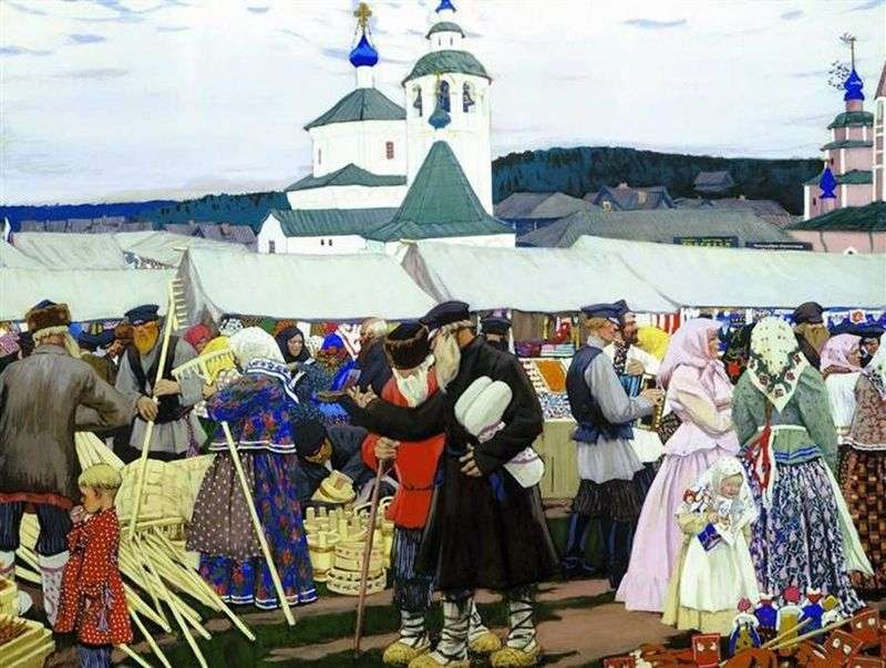Fair by Boris Kustodiev