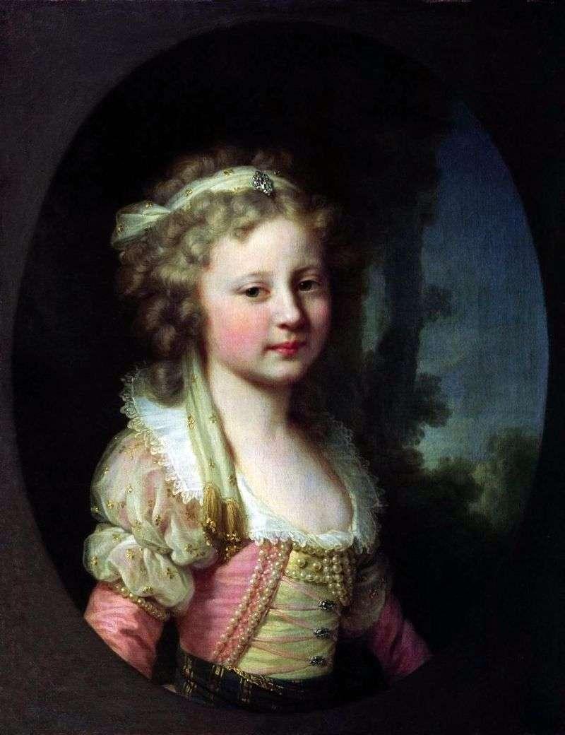 Portrait of Grand Duchess Elena Pavlovna as a Child by Johann Baptist Lampi