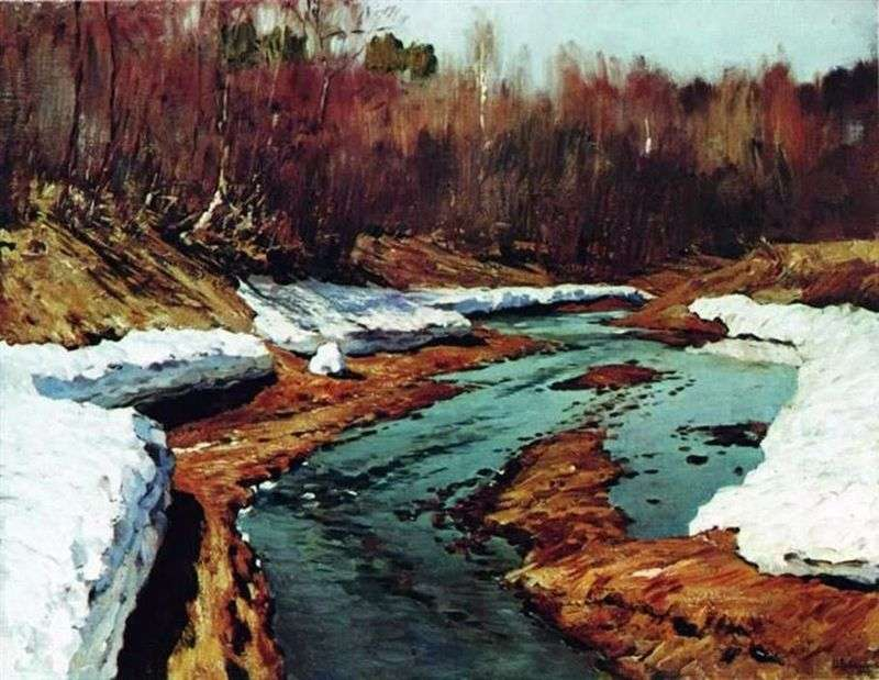 Spring. Last Snow by Isaac Levitan