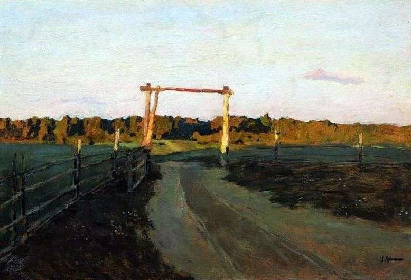 The outskirts. Summer evening by Isaac Levitan