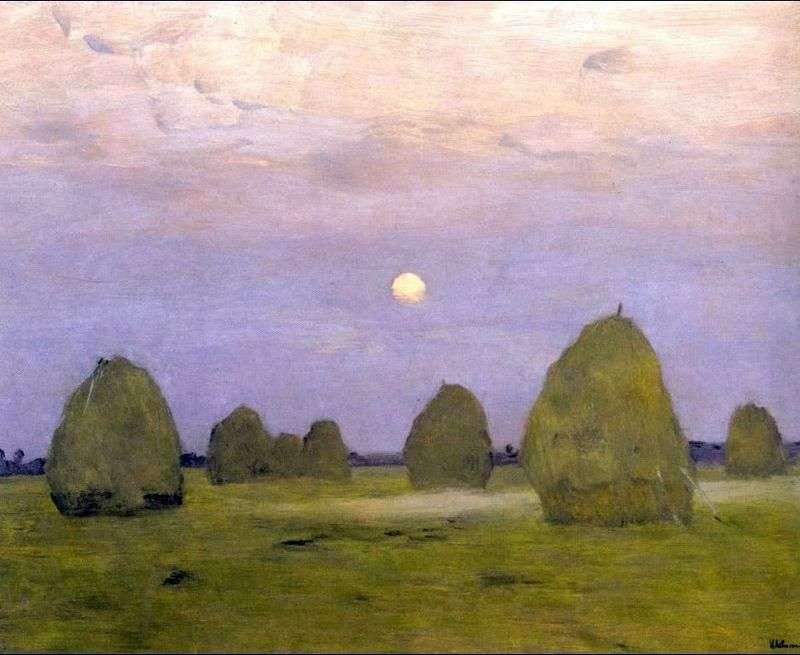 Twilight Stacks by Isaac Levitan