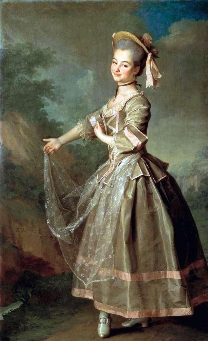 Portrait of Nelidova by Dmitry Levitsky