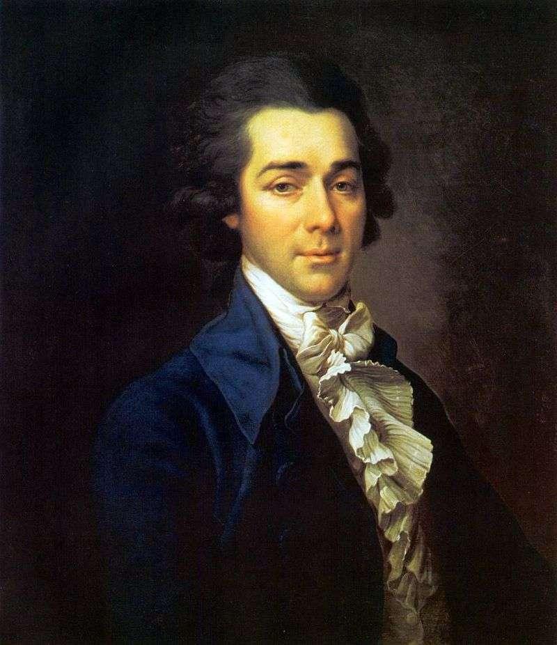Portrait of Nikolai Aleksandrovich Lvov by Dmitry Levitsky