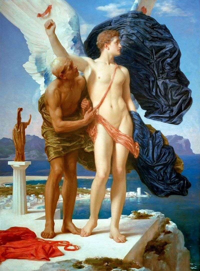 Daedalus and Icarus by Frederick Leighton