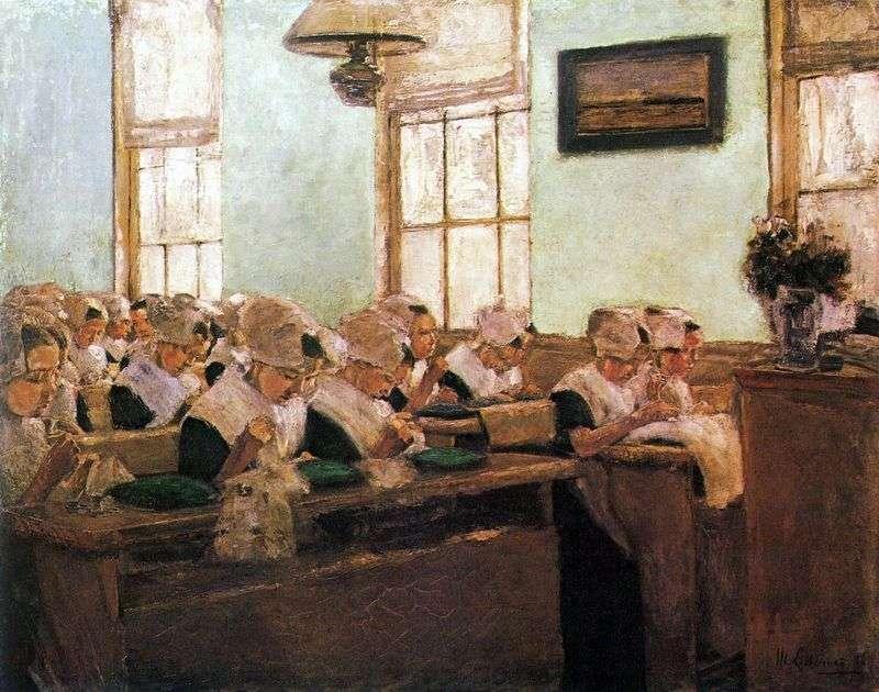 Dutch sewing school by Max Lieberman
