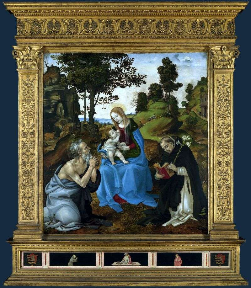 Madonna and Child with Saints Jerome and Dominic by Filippino Lippi