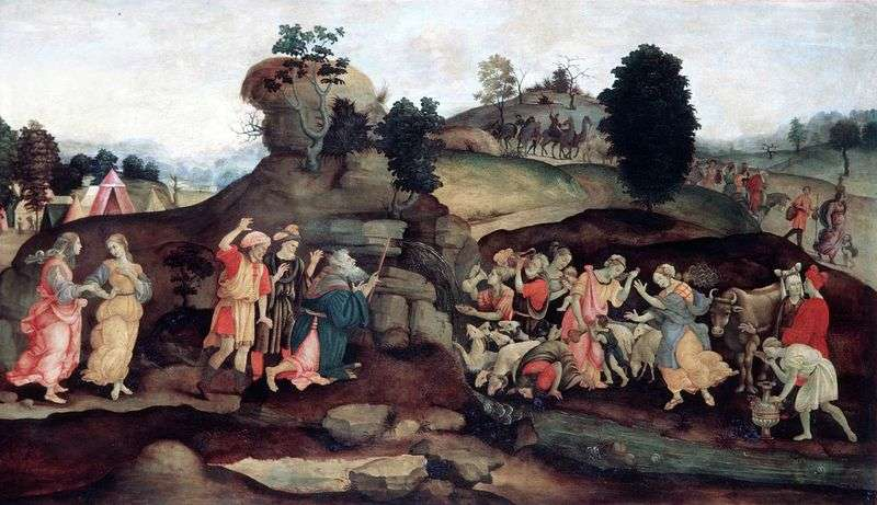 Moses Mining Water from a Rock by Filippino Lippi