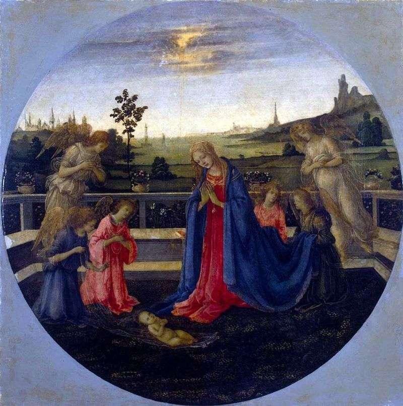 Adoration of the Infant Christ by Filippino Lippi