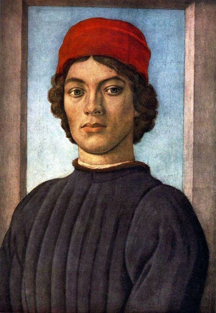 Portrait of a young man by Filippino Lippi
