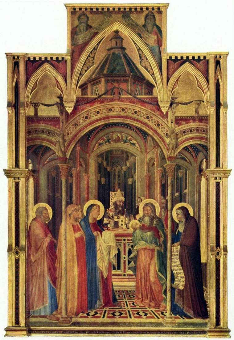 Bringing in the Temple by Ambrogio Lorenzetti