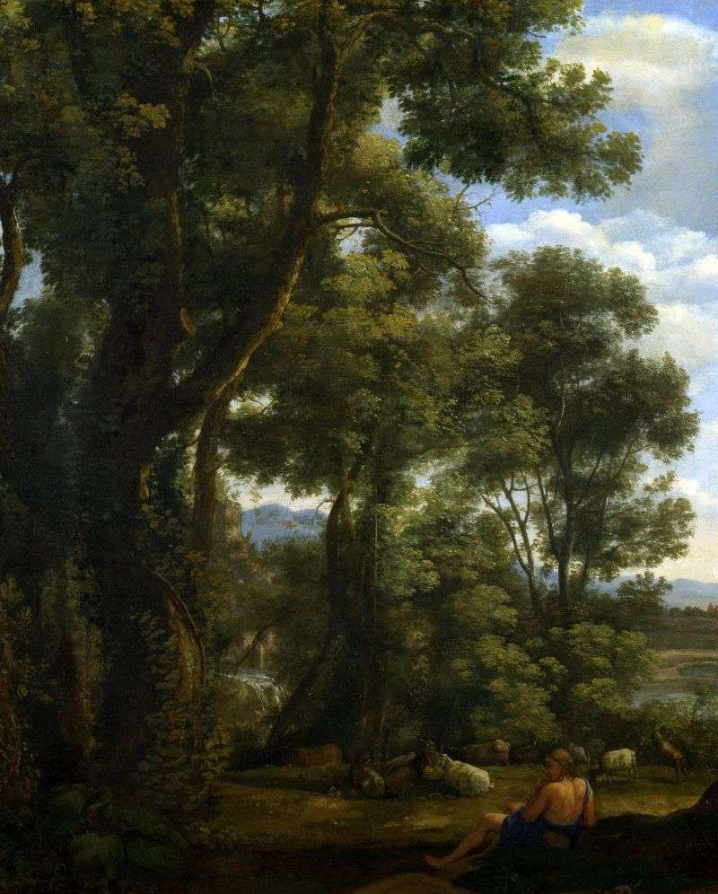 Landscape with a goatfish and goats by Claude Lorrain