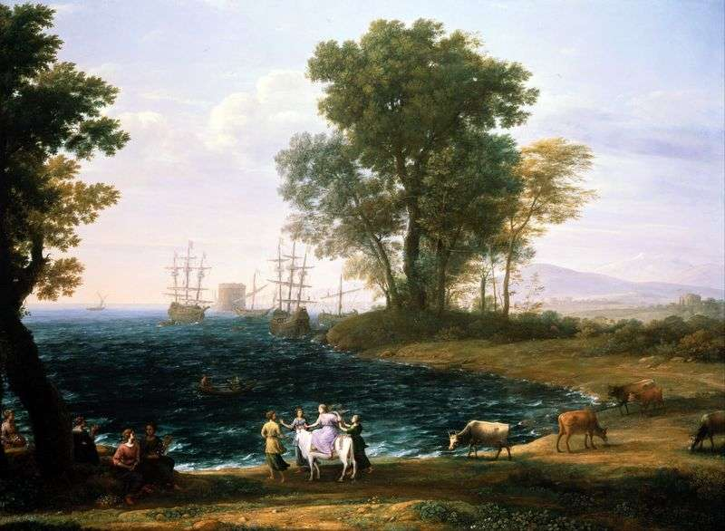 Abduction of Europe by Claude Lorrain
