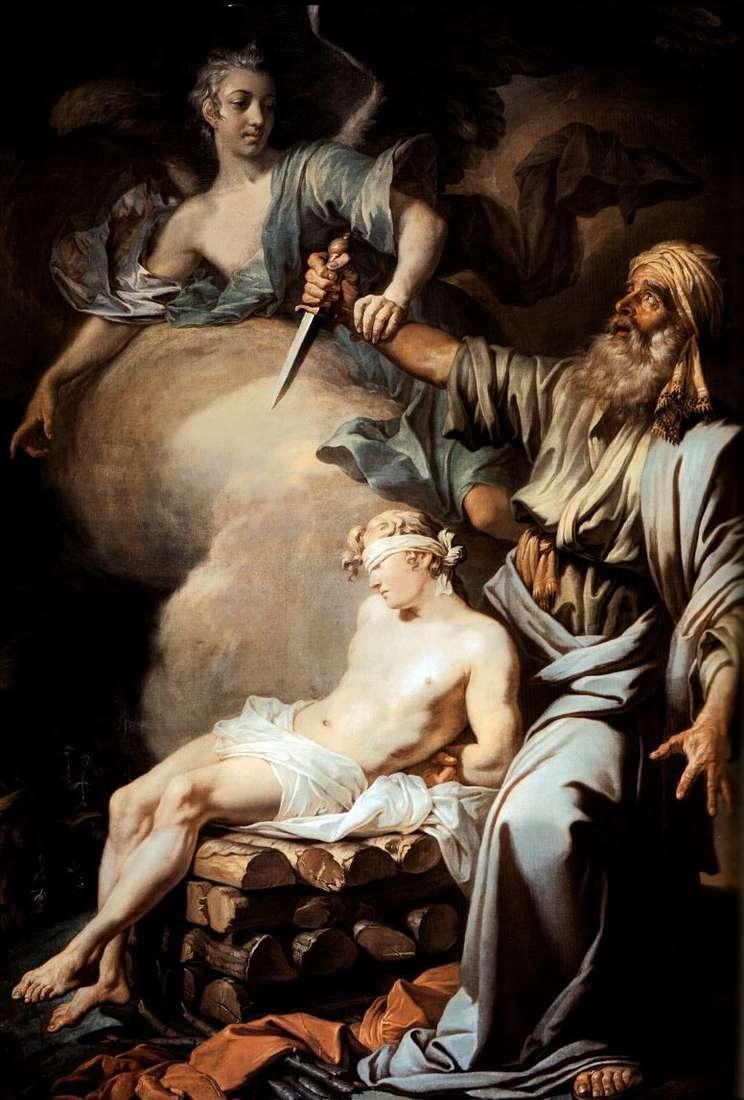 Abraham sacrifices his son Isaac (Abrahams Sacrifice) by Anton Losenko