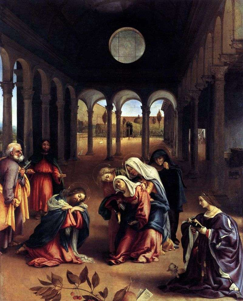 Capture of Christ with the Mother by Lorenzo Lotto