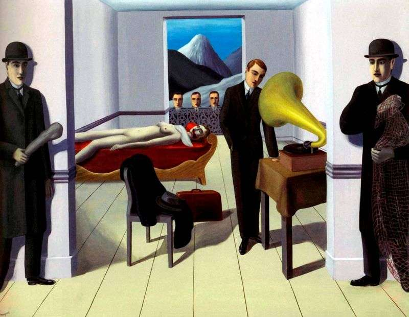 The threat of murder by Rene Magritte