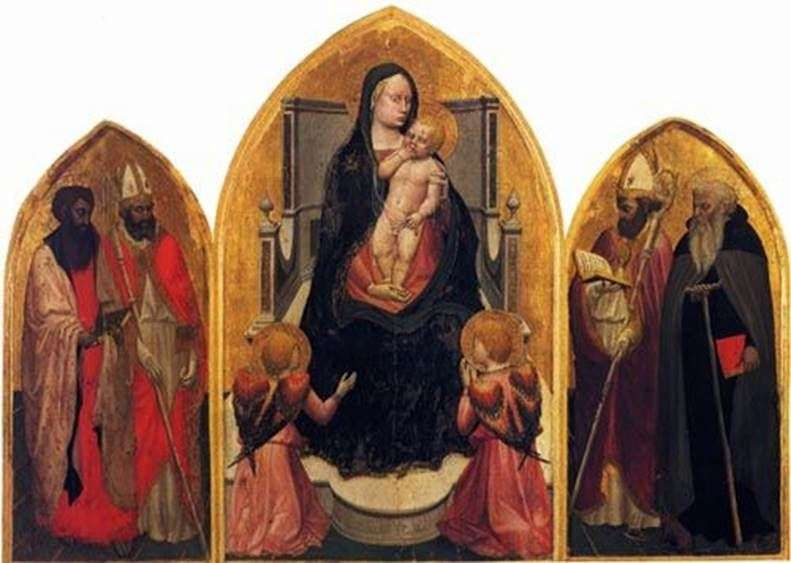 Madonna with Angels and Saints (Triptych of San Jovenale) by Masaccio
