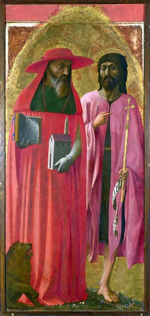 Saints Jerome and John the Baptist by Tommaso di Giovanni Masaccio