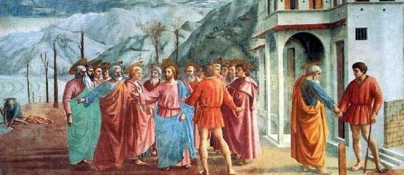 Miracle with a statir (Payment of tax) by Masaccio