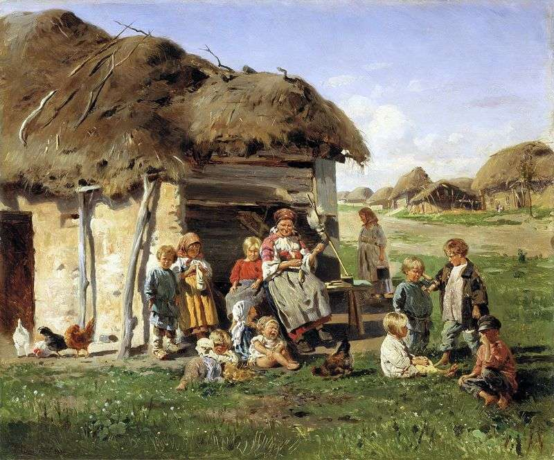Peasant children by Vladimir Makovsky