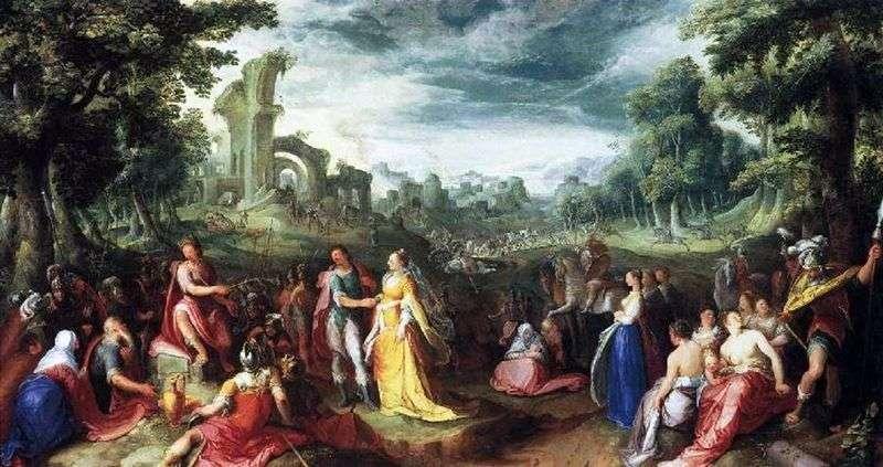 The generosity of Scipio by Karel van Mander