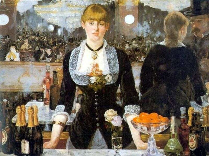 Bar in Folies Bergeres by Edouard Manet
