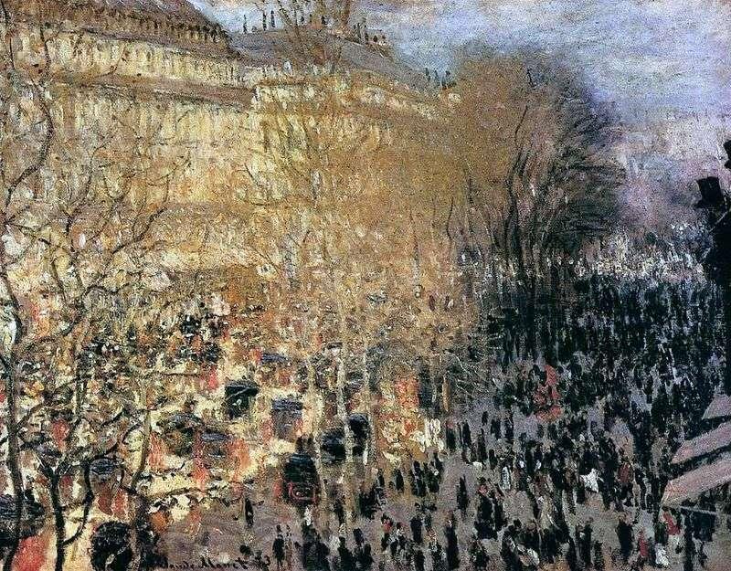 Capuchin Boulevard by Claude Monet