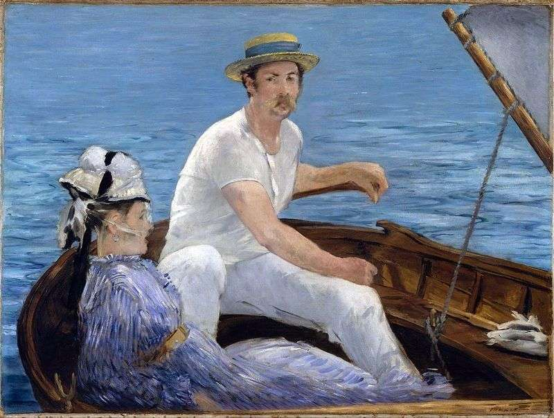 In the boat by Edouard Manet