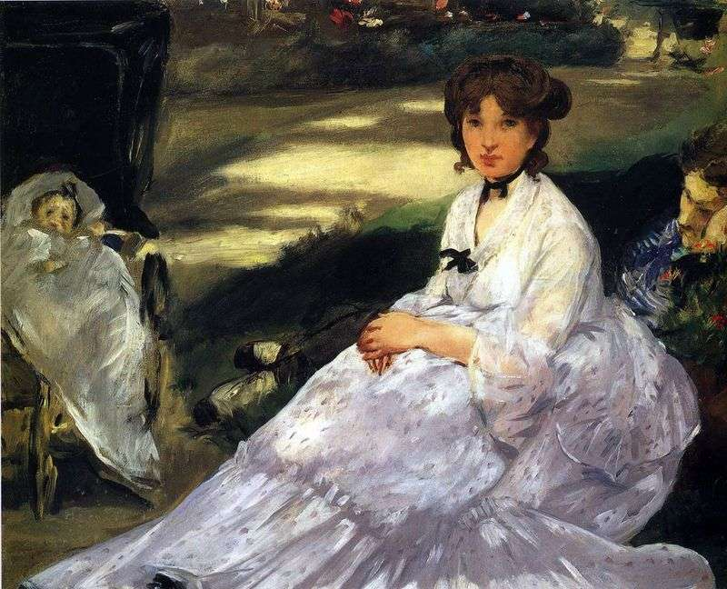 In the garden by Edouard Manet