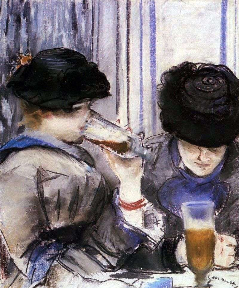 Women Drinking Beer by Edouard Manet