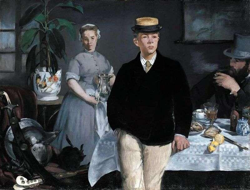 Breakfast in the workshop by Edouard Manet