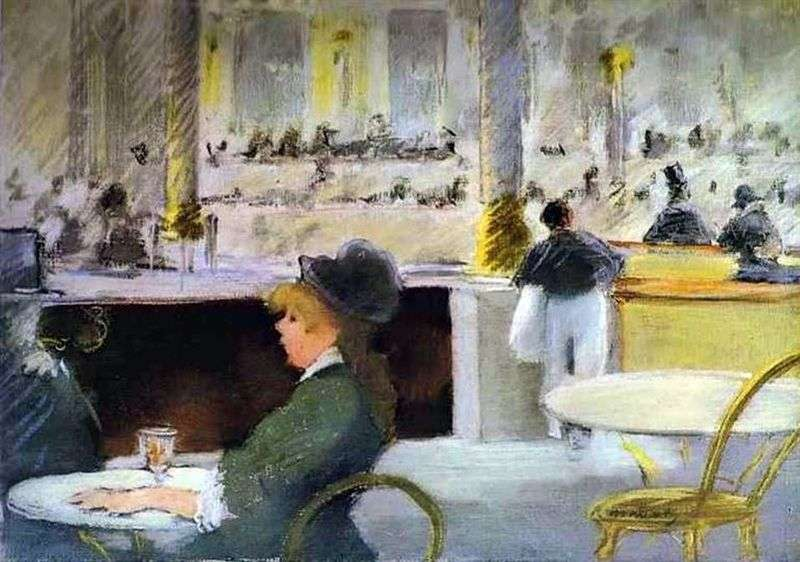 Cafe interior by Edouard Manet