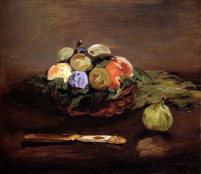 Fruit Basket by Edouard Manet