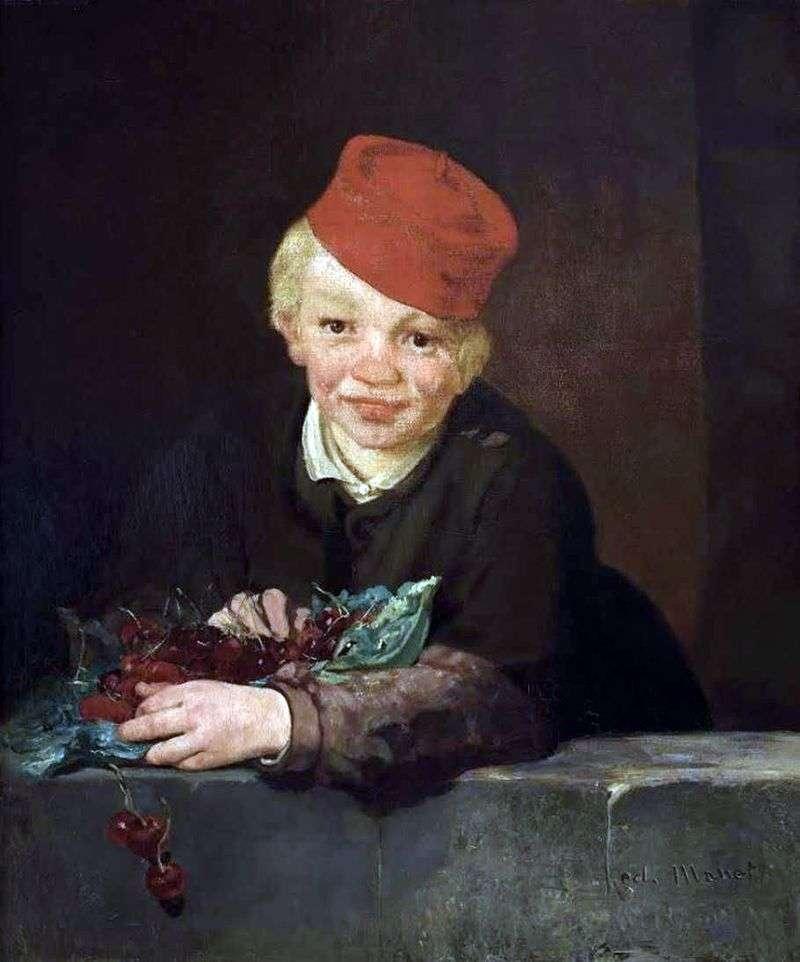 Cherry Boy by Edouard Manet