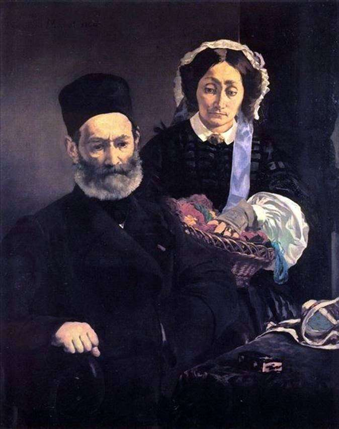 Monsieur and Madame Manet by Edouard Manet