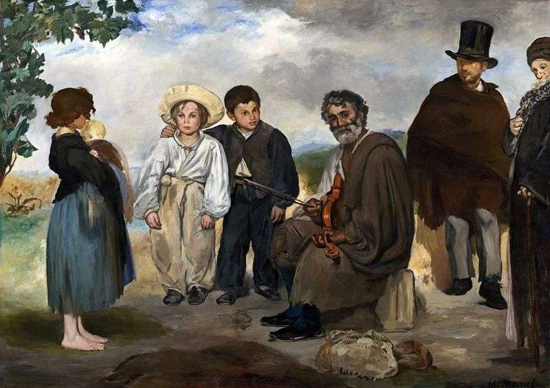Old musician by Edouard Manet