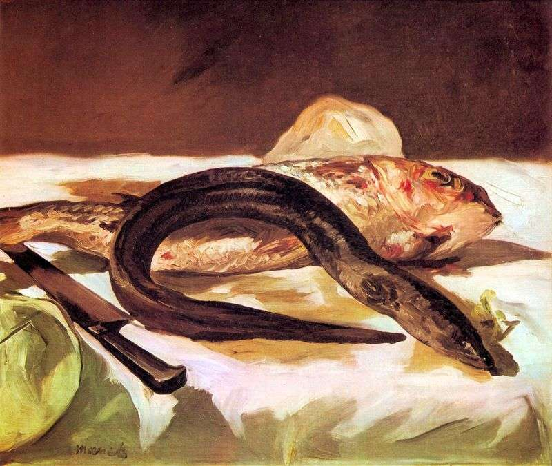 Eel and Mullet by Edouard Manet