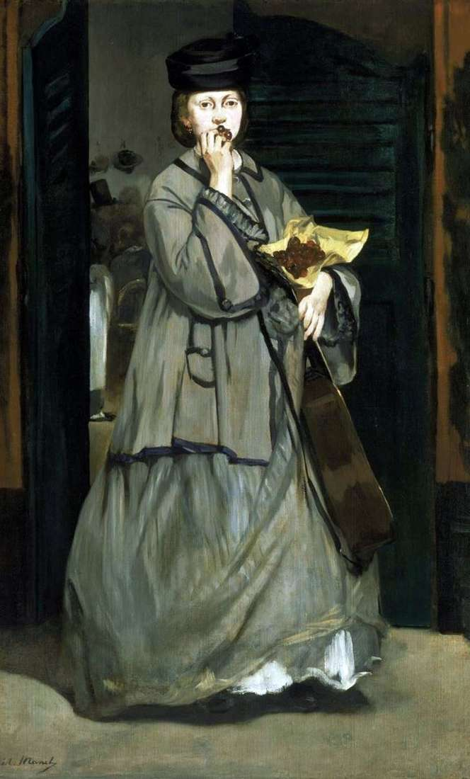Street singer by Edouard Manet