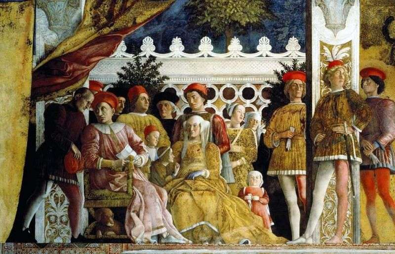 Ludovico Gonzaga, his family and the yard by Andrea Mantegna