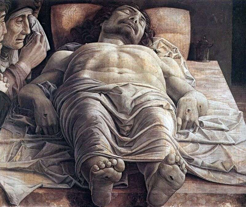 Lamenting the Dead Christ by Andrea Mantegna