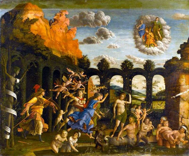 Pallas Expelling Vices from the Garden of Virtues by Andrea Mantegna