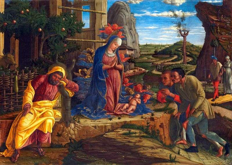 Adoration of the Shepherds by Andrea Mantegna