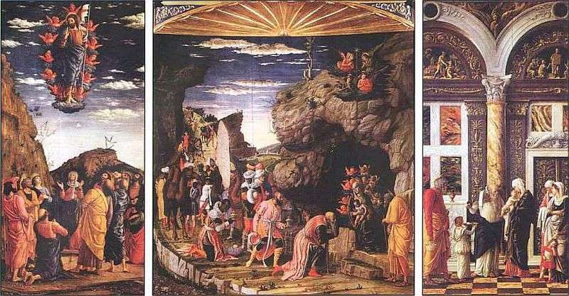 Triptych with the Adoration of the Magi by Andrea Mantegna