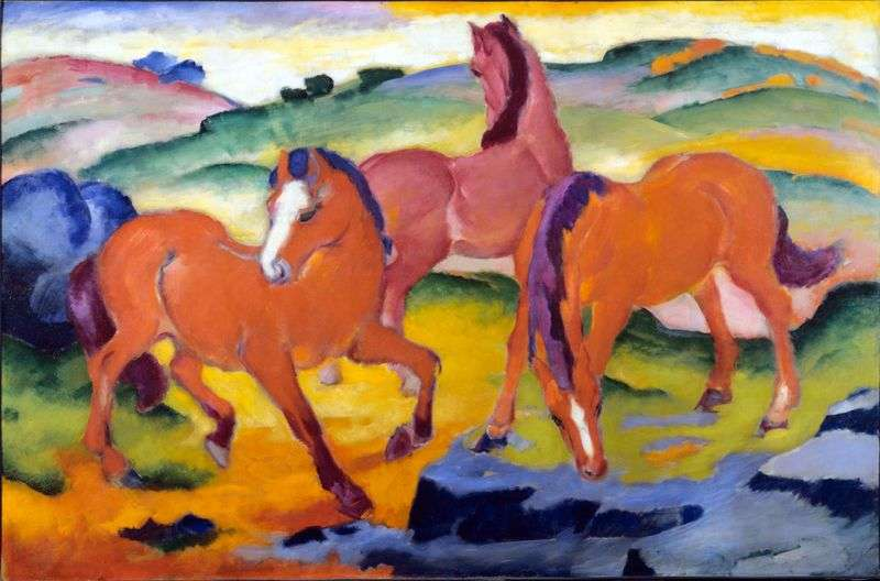Red Horses by Franz Marc