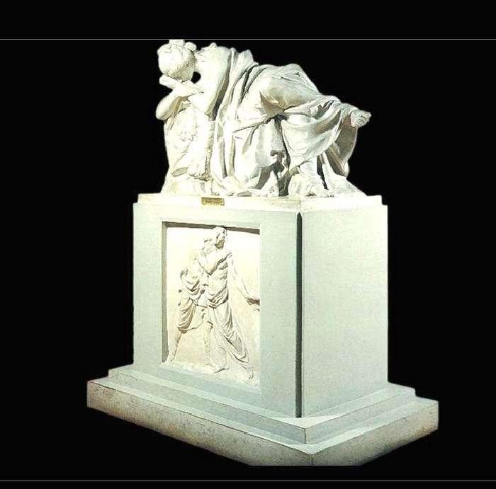 Tombstone to Princess Elena Stepanovna Kurakina by Ivan Martos