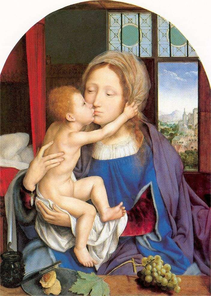 Mary With The Baby by Quentin Mussys