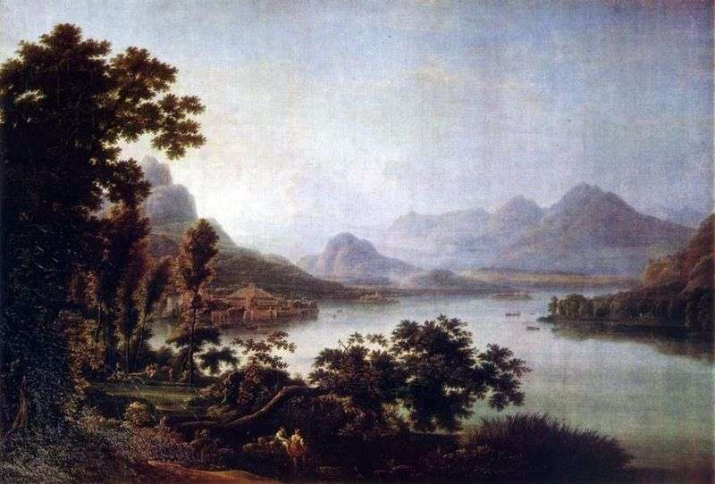 View of Lago Manzhore by Fedor Matveyev