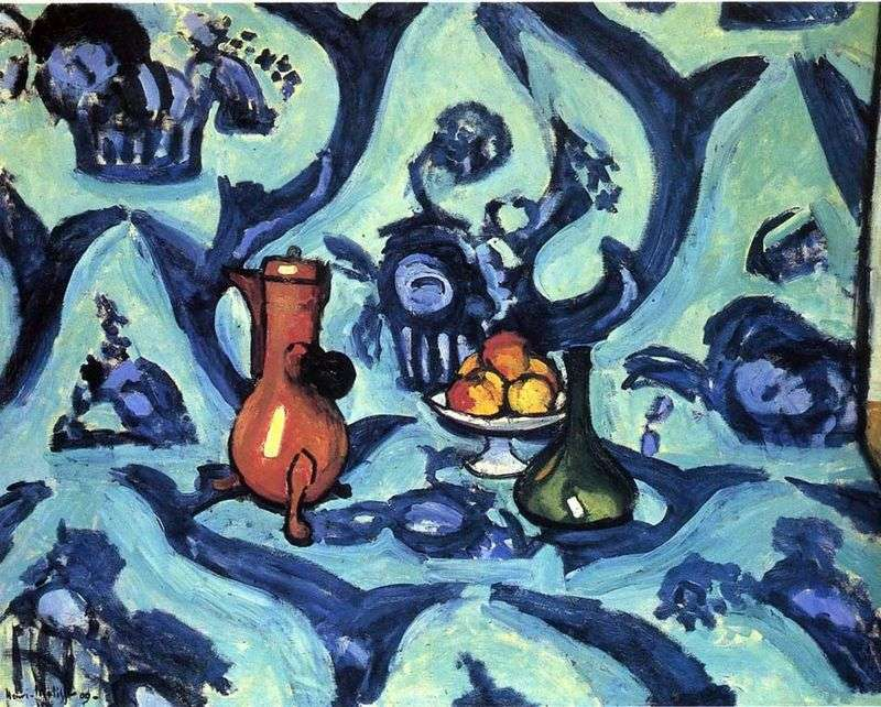 Still Life with a Blue Tablecloth by Henri Matisse