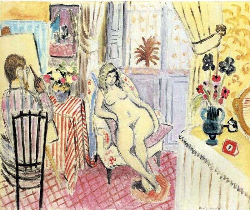 The artist and his model by Henri Matisse
